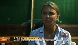 Correspondant Lara Logan in the 60 Minutes Ebola Report