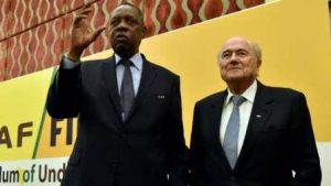 Hayatou and Sepp Blatter